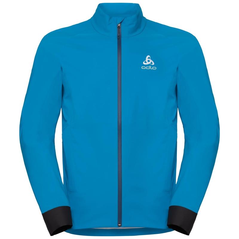 Men's MORZINE RAIN LIGHT Cycling Jacket, blue jewel, large