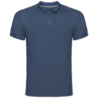 NIKKO DRY Poloshirt, ensign blue - faded denim stripes, large