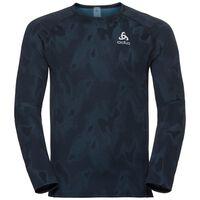 Basislaag top met Ronde hals l/m Vigor, blue coral - black, large