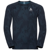 BL Top Crew neck l/s VIGOR, blue coral - black, large