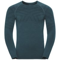 Maglia Base Layer a manica lunga NATURAL + KINSHIP WARM da uomo, blue coral melange, large