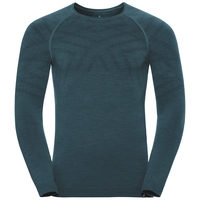 Men's NATURAL + KINSHIP WARM Long-Sleeve Base Layer Top, blue coral melange, large
