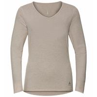 LOU LINENCOOL-top met lange mouwen voor dames, silver cloud melange, large