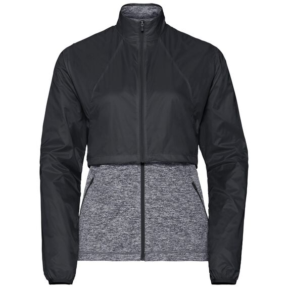 Midlayer full zip KUMANO ACTIVE CONVERT, black - grey melange, large