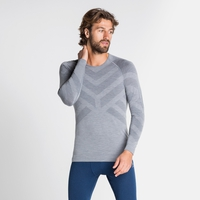Herren NATURAL + KINSHIP WARM Baselayer-Shirt, grey melange, large