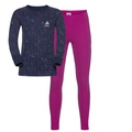 ACTIVE WARM KIDS Set, beetroot purple - peacoat, large