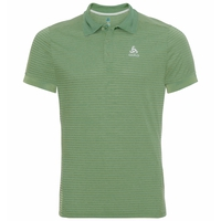 Men's NIKKO DRY Polo Shirt, green glow - green eyes - stripes, large