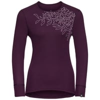 Maglia Base Layer a manica lunga ACTIVE WARM PRINT da donna, pickled beet, large