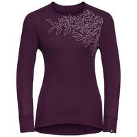 Sous-vêtement technique T-shirt manches longues ACTIVE WARM PRINT pour femme, pickled beet, large