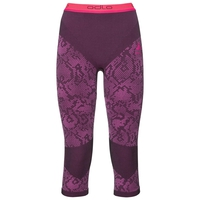 Pants 3/4 Blackcomb EVOLUTION WARM, black - pink glo, large