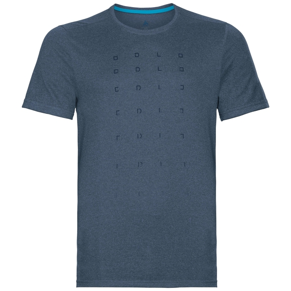 Herren MILLENNIUM ELEMENT PRINT T-Shirt, poseidon melange, large