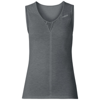 SUW TOP NATURAL + X-LIGHT Tanktop mit V-Ausschnitt, steel grey melange, large