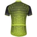 Maillot Cycle zippé à manches courtes FUJIN PRINT pour homme, acid lime - black, large