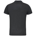 Polo NIKKO DRY, black - odlo steel grey - stripes, large