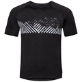 T-shirt CONCORD da uomo, black - mountain stripe SS19, large