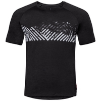 Herren CONCORD T-Shirt, black - mountain stripe SS19, large