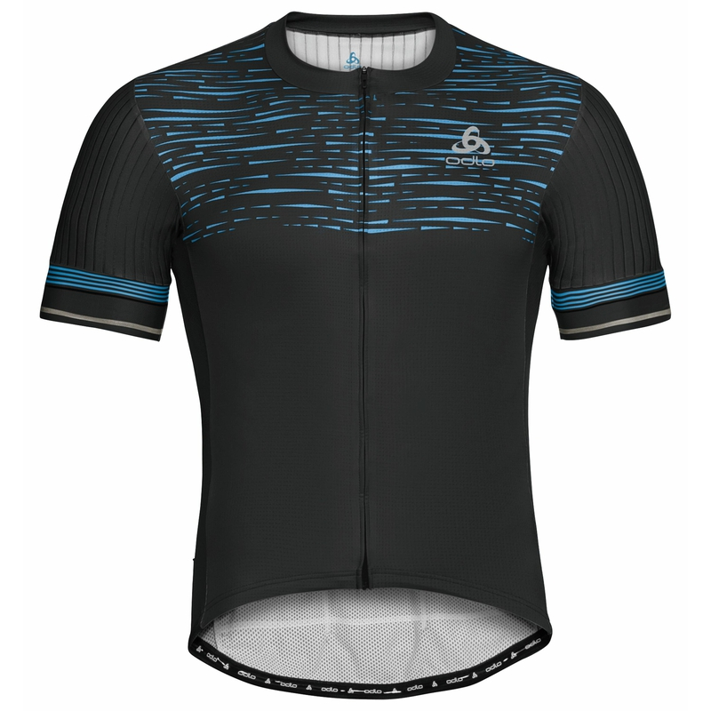 Men's ZEROWEIGHT CERAMICOOL PRO Full-Zip Short-Sleeve Cycling Jersey, black - graphic SS21, large