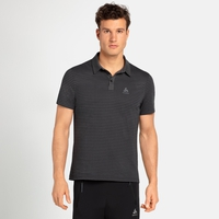 Polo shirt s/s SIGNO, odlo graphite grey - black - stripes, large