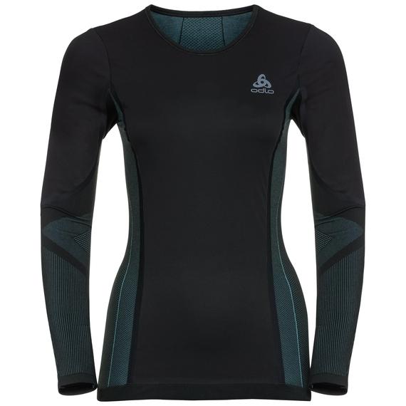 Women's PERFORMANCE WINDSHIELD CYC LIGHT Cycling Long-Sleeve Sports-Underwear Top, black - blue radiance, large