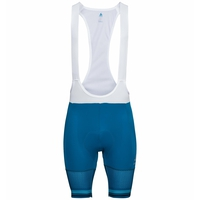 Men's ZEROWEIGHT CERAMICOOL PRO Cycling Bib Shorts, mykonos blue - white, large