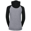 ACTIVE WARM KIDS Long-Sleeve Base Layer Top with Face Mask, black - grey melange, large