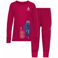ACTIVE WARM KIDS Funktionsunterwäsche Set, cerise - placed print FW19, large