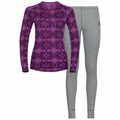 WINTER SPECIALS ACTIVE WARM ECO-basislaagset voor dames, hyacinth violet graphic FW20 - diving navy, large