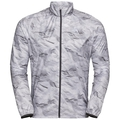 Men's ZEROWEIGHT Jacket, odlo graphite grey - paper print SS19, large