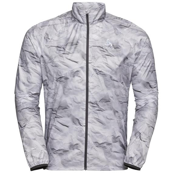 Herren ZEROWEIGHT Jacke, odlo graphite grey - paper print SS19, large