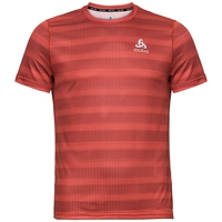 Men's CERAMICOOL BASE LAYER PRINT T-Shirt, paprika - AOP SS19, large