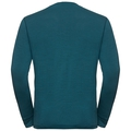 Men's NATURAL 100% MERINO WARM Long-Sleeve Base Layer Top, blue coral - grey melange, large