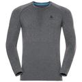 SUW Top PERFORMANCE Warm langärmeliges Oberteil mit Rundhalsausschnitt, grey melange - black, large