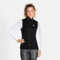 Women's ZEROWEIGHT WARM Running Vest, black, large