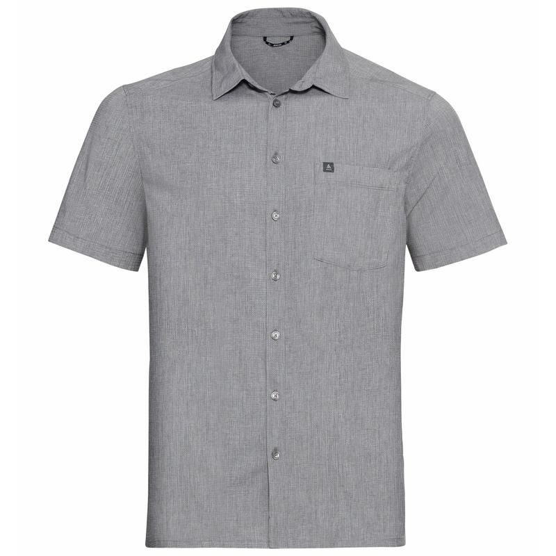 ANTON-overhemd met korte mouwen voor heren, grey melange, large