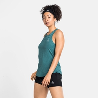 Damen RUN EASY Tanktop, jaded melange, large