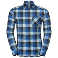NIKKO CHECK Hemd, energy blue - diving navy - nile blue - check, large