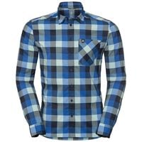 Shirt NIKKO CHECK, energy blue - diving navy - nile blue - check, large