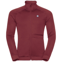 Midlayer zip intera ODDVAR, syrah, large