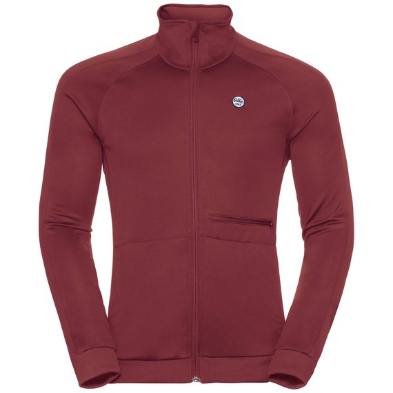 Midlayer full zip ODDVAR, syrah, large