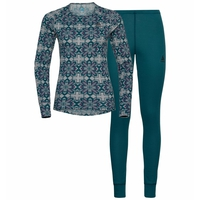 WINTER SPECIALS ACTIVE WARM ECO-basislaagset voor dames, grey melange graphic FW20 - submerged, large