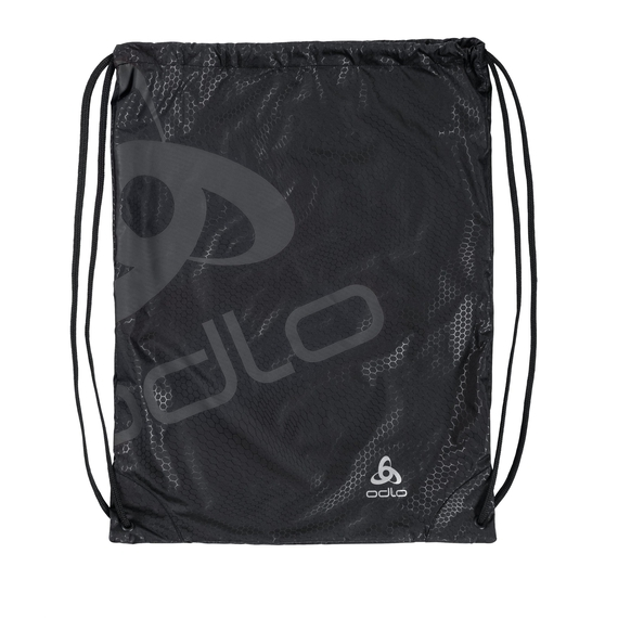 PRINTED GYM bag unisex, black - odlo graphite grey, large