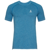 T-shirt SEAMLESS ELEMENT da uomo, mykonos blue melange, large