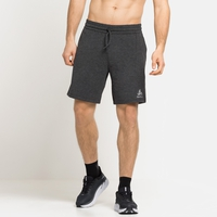 Herren RUN EASY Shorts, black melange, large