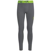 Pantalones térmicos Ceramicool Pro para hombre, odlo steel grey - safety yellow, large