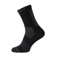 Socks long NATURAL+ CERAMIWOOL OUTDOOR, odlo steel grey - black, large