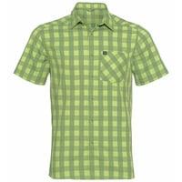 Men's MYTHEN Short-Sleeve Shirt, green glow - green eyes - check, large