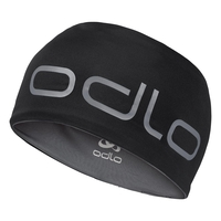 Hoofdband CERAMIWARM REVERSIBLE, black - odlo steel grey, large