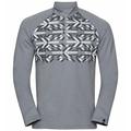 Top midlayer con mezza zip PAZOLA RIBBON da uomo, grey melange - graphic FW20, large
