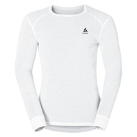 Men's ACTIVE WARM Long-Sleeve Base Layer Top, white, large