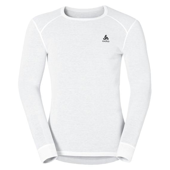 Active Originals Warm langärmeliges Shirt mit Rundhalsausschnitt, white, large